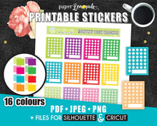Monthly task tracker Printable Stickers