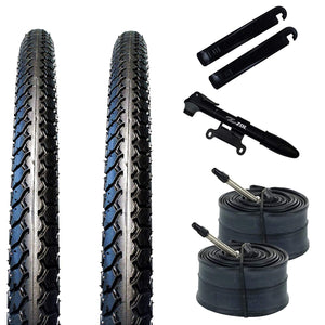Zol Bundle Pack 2 Velocita BMX Tires, 2 Bike Tube 20x1 3/8, Presta/French 48 MM, 2 Tire Levers and 1 Zol Mini Pump - Zol Cycling