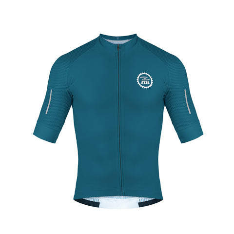Zol Cycling Breathable Race Fit  Jersey Green - Zol Cycling