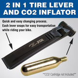 Zol 2 in 1 Bicycle Tire Lever and CO2 Valve Tire Inflator Lever with Rim Protector Cycling Repair Tools - Zol Cycling