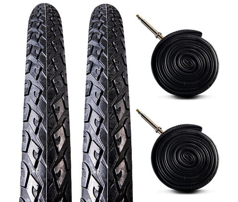 Zol Bundle 2 Pack Velocita Road Reflective Tire and Tube 700X38c Presta/French Valve - Zol Cycling