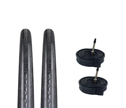 Zol Bundle 2 Pack Z1076 Road Tires and Tube 700x25c Presta/French - Zol Cycling