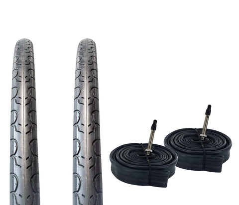 Zol Bundle 2 Pack Velocita Road Tires and Tube 700x32C, Presta/French - Zol Cycling