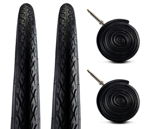Zol Bundle 2 Pack Velocita Road Tires and Tube 700x38C, Presta/French - Zol Cycling