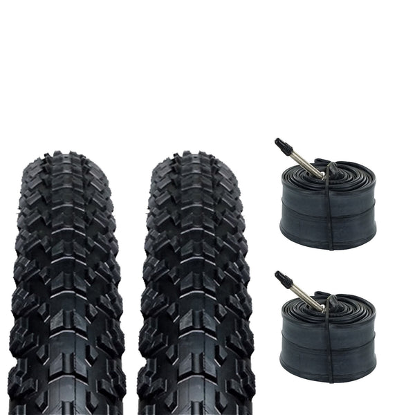 ZOL Bundle Pack Z2018 MTB Tires and Tube 26x2.25, Presta/French 48 MM Valve - Zol Cycling