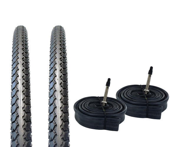 Zol Bundle 2 Pack Velocita BMX Tires and Tube 20x1 3/8, Presta/French 48 MM Valve - Zol Cycling