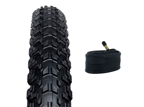 "Zol Bundle Pack Z2018 MTB Tires and Tube 26x2.25"", Schrader/American 48 MM Valve - Zol Cycling"