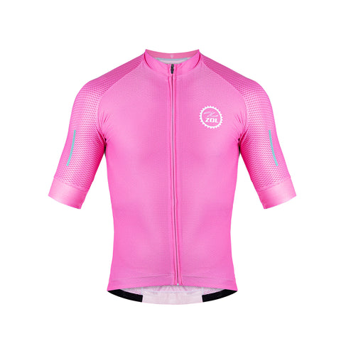 Zol Cycling Breathable Race Fit Jersey Pink - Zol Cycling