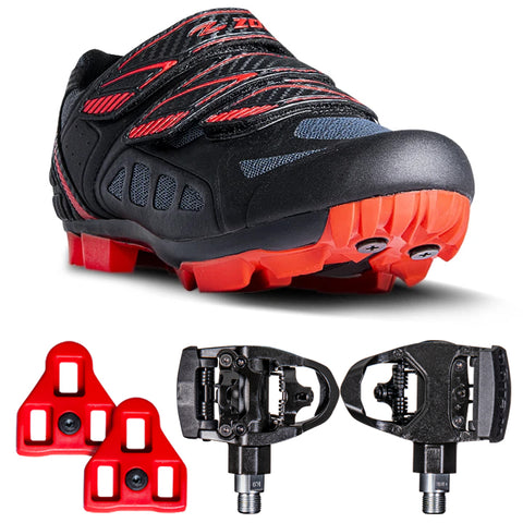 Zol Predator Mtb Mountain Bike and Indoor Cycling Shoes with Dual Pedals - Zol Cycling