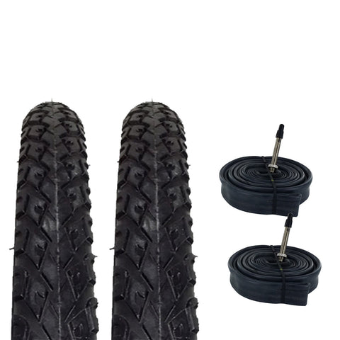 Zol Bundle 2 Pack Z2011 Urban Hybrid Tires and Tube 700x38C, French 48MM Valve - Zol Cycling