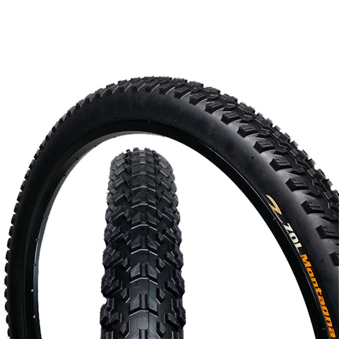 "Zol Montagna MTB Mountain Wire Bike Bicycle Tire 26x2.25"" Black - Zol Cycling"