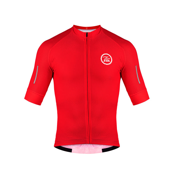 Zol Cycling Breathable Race Fit Jersey Red - Zol Cycling