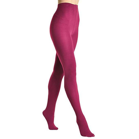 Extra Thick Super Warm Brushed Interior Termal Tights Berry