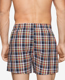 Mens Plaid Boxer Shorts Underwear - Pack of 3 multicolors