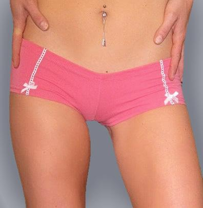 ... Perfect Under LOW RISE Jeans Cotton BOOTY SHORT BOYSHORT Panties  Underwear PINK ... 26332fd8e18