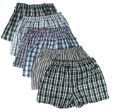 Classic Design Plaid Woven Boxer Shorts Underwear black, blue, green