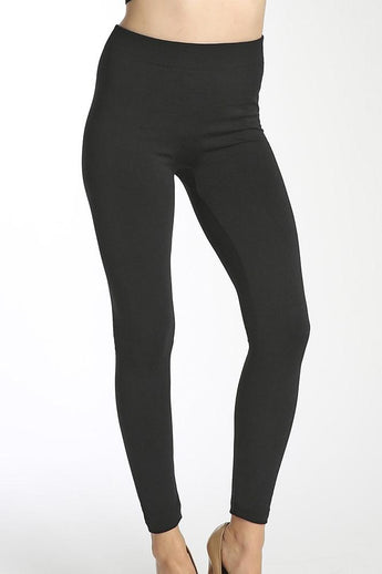 Women's Thick Warming Winter Fleece Lined Leggings Black