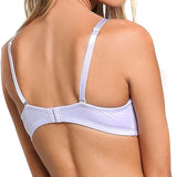 Full Support Light Lined Multi-Way Strapless Bra White back