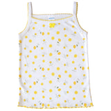 (4-Pack) Girls Spaghetti Straps Cotton Floral Undershirt Camisole Tank Tops 5