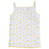 (4-Pack) Girls Spaghetti Straps Cotton Floral Undershirt Camisole Tank Tops 4