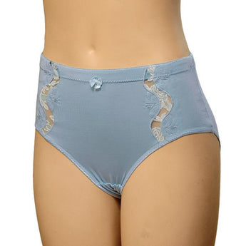 High Waist Lace Embroidered Brief