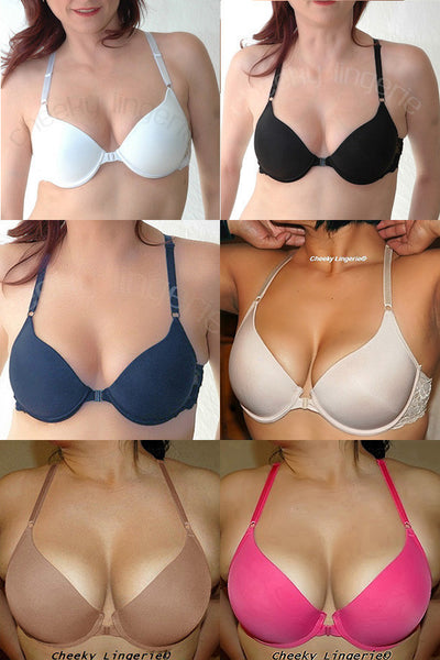32 - 36 A-B-C Great Fit Front Close Gentle Push Up Racerback Bra