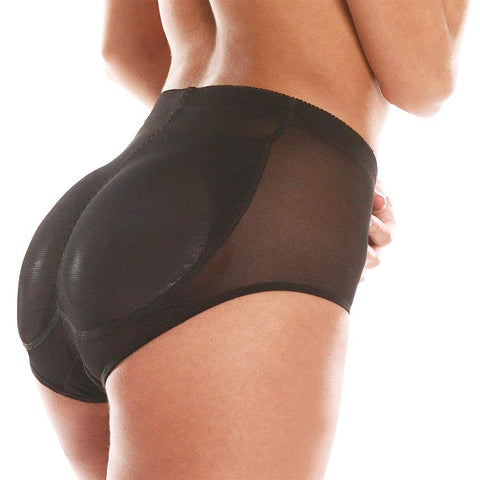 Butt Pads Fake Butt Silicone Buttocks Shaper Panty with Smooth Control Instant Lift Shape BLACK