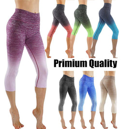 Women's Ombre Flexible Exercise Capri Pants
