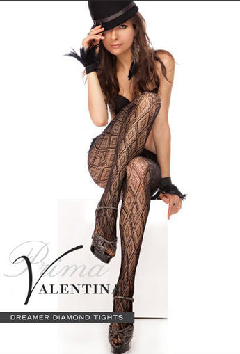 Prima Valentina 71617 Black Dreamer Diamond Fishnet Tights