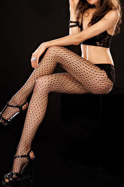Valentina 71074 Black Fishnet Galaxy Dot Tights pantyhose