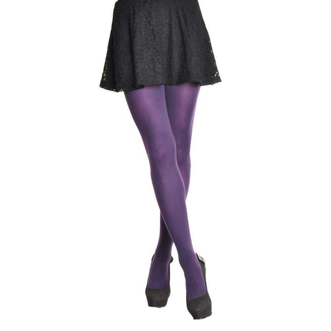 58672ce9edf ... Angelina 7900 Ultra Stretchy 70 Denier Opaque Tights stockings purple 2  ...