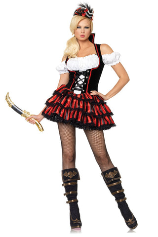 Leg Avenue Shipwreck Pirate Costume 83607 Red/Black