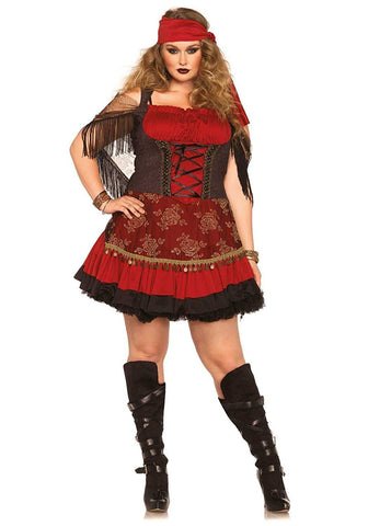 Details about  1X 2X 3X 4X Adult BBW Women's Plus Size Mystic Vixen Halloween Costume