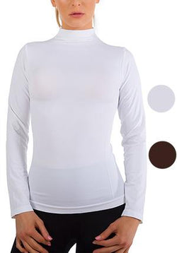 Long Sleeve Fleece Lined Worming Turtleneck Top Available Colors