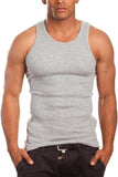 Men's A-Shirt Tank Top Muscle Shirt Gray