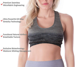 Women's Ombre Flexible Sports Bra Top Main