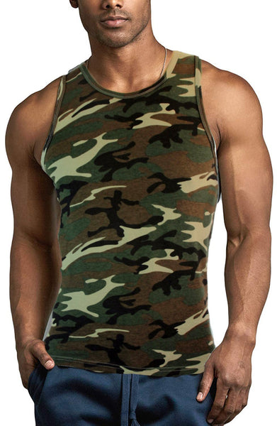 Military Army Camouflage Mens A-Shirt Undershirt