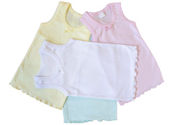 (4-Pack) Classic Girls Undershirt Camisole Tank Tops