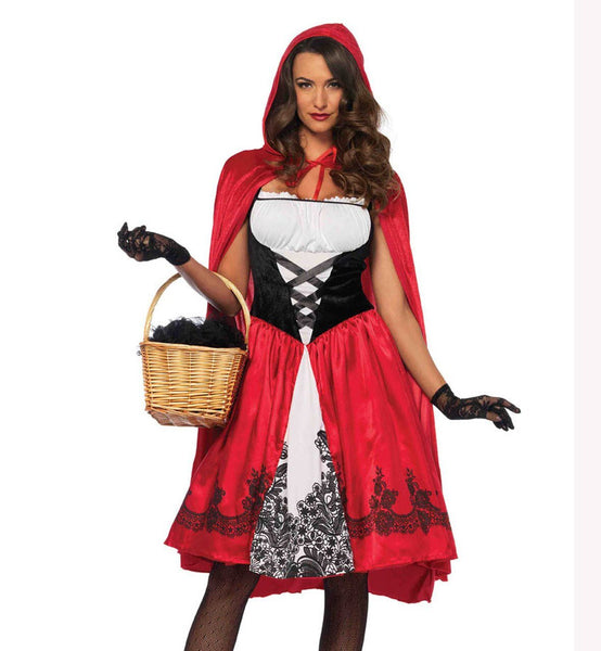 Adult Women's Classic Red Riding Hood Halloween Costume