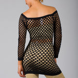 Long Sleeve FishNet Shirt Top