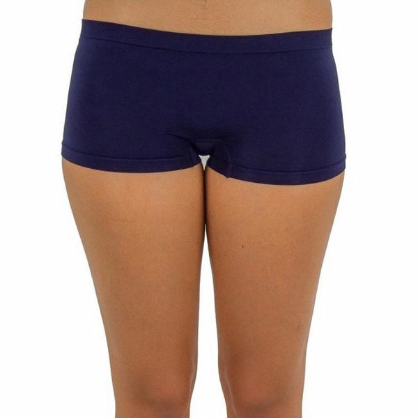 Free Size Seamless Workout Hot Shorts Navy Blue