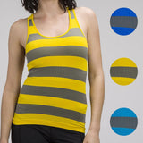 Sleeveless Ribbed Striped Racerback Tank Top Avaiable Colors