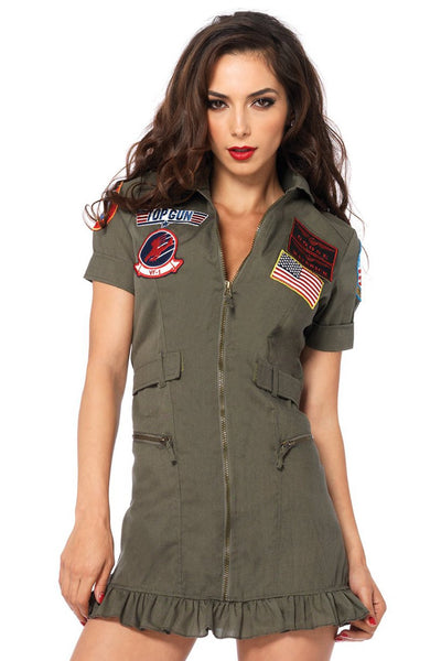 Leg Avenue TG83700 Top Gun Women's Flight Halloween Costume