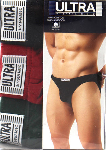 3-pack Fine Cotton Ultra Plain Bikini Mens Underwear 2