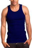 Men's A-Shirt Tank Top Muscle Shirt Navy