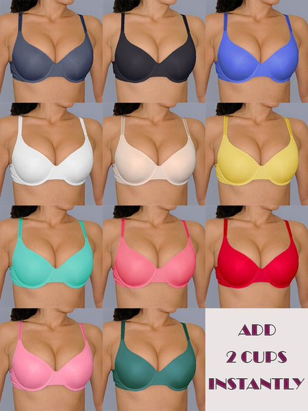 Instantly ADD 2 CUPS Sizes Push Up Bra