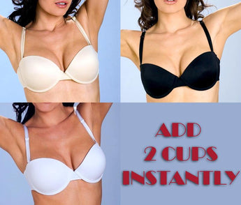 Underwire Strapless Multi-way ADD 2 CUPS Push Up Bra