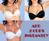 Underwire Strapless Multi-way ADD 2 CUPS Push Up Bra 3 available colors