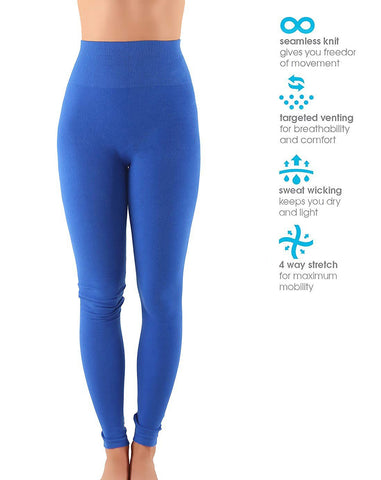 Premium High Waist Thick Cotton Yoga/Workout Pants Leggings 12