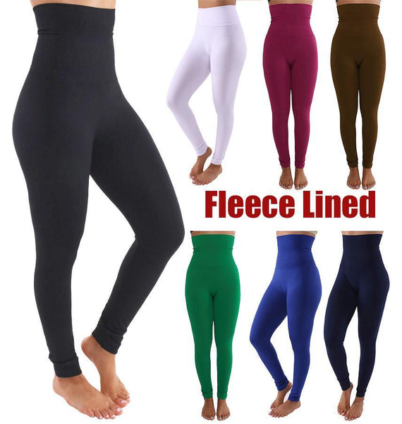 Fleece Lined Tummy Control High Waist Active Leggings